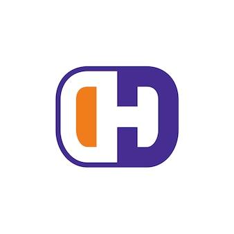 Litera h i litera d początkowe logo