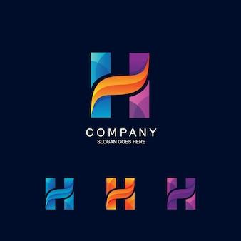 Litera h logo w wektorze