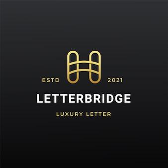 Litera h nowoczesne logo ikona ilustracja linia paski styl