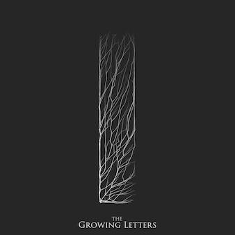 Litera i gałęzi lub pęknięty alfabetu.