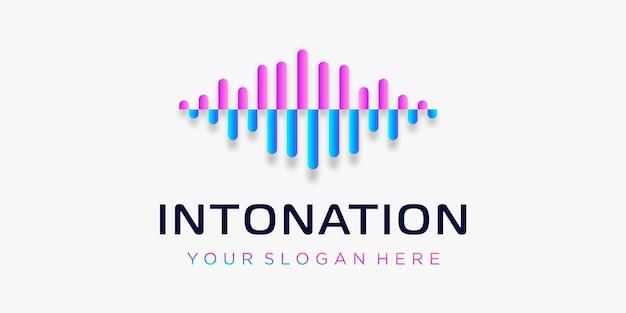 Litera i z impulsem intonacja element logo szablon elektroniczny korektor muzyki sklep