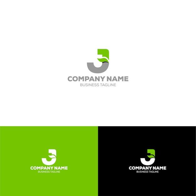 Litera j organic logo szablon