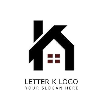 Litera k logo domu