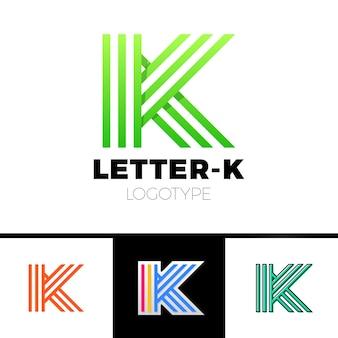 Litera k logo ikona elementy szablonu projektu