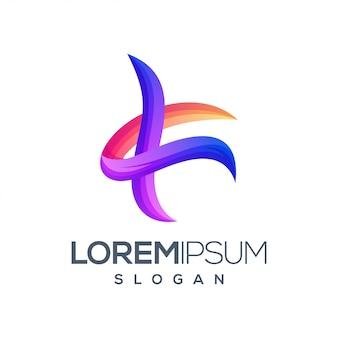 Litera k projekt logo w kolorze gradientu