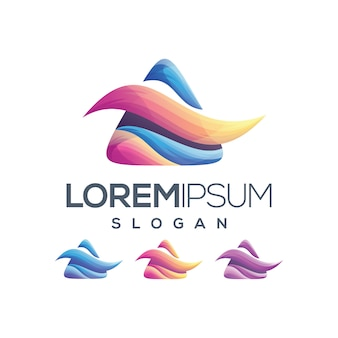 Litera kolor gradientu logo