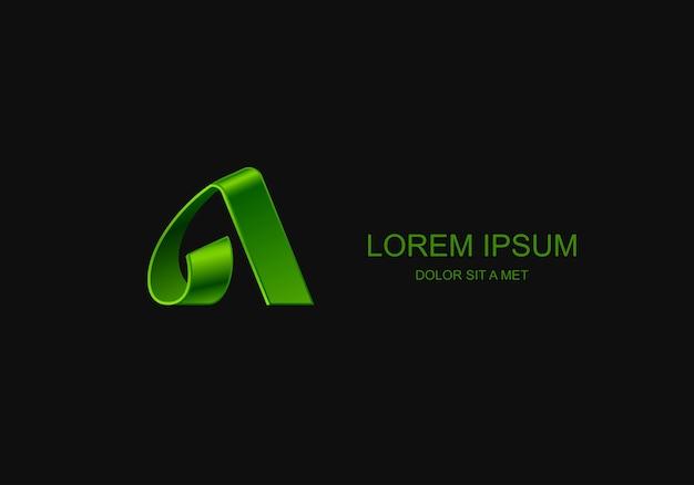 Litera logo godło stylizowane szablon, uniwersalny pomysł technologii biznesowej