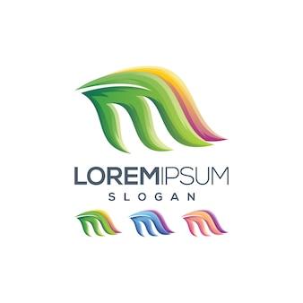 Litera m kolor gradientu logo