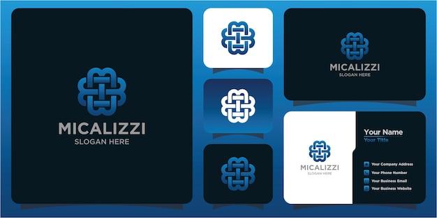 Litera m logo i wizytówkę