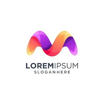 Litera m logo, nowoczesny monogram