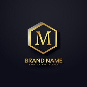 Litera m logo premium design