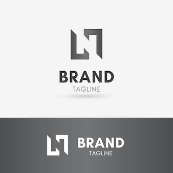 Litera n logo negatywnej przestrzeni