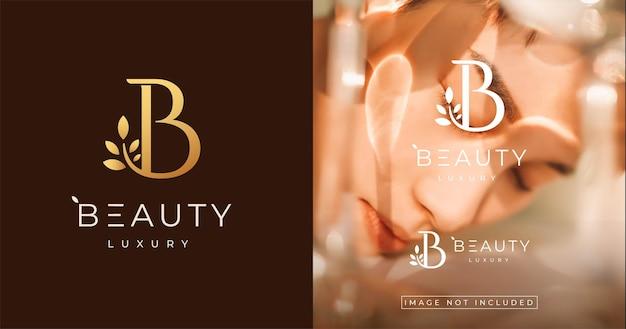 Litera naturalne kobiece piękno. szablon projektu logo w stylu luksusowego monogramu