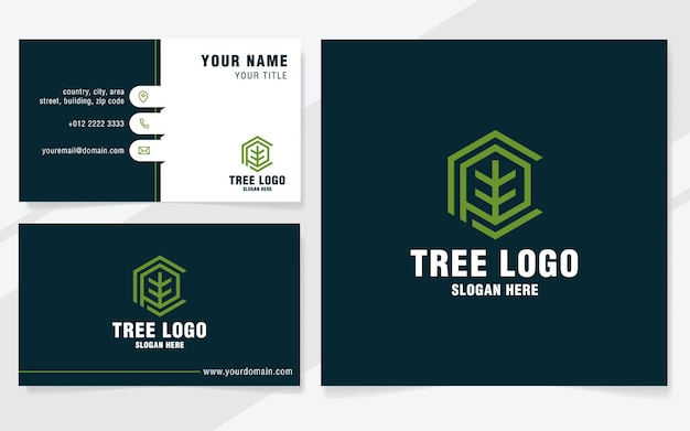 Litera p z szablonem logo drzewa w nowoczesnym stylu