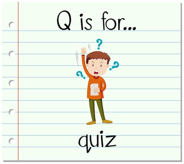 Litera q na fiszce jest przeznaczona do quizu