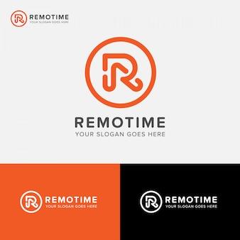 Litera r cyfrowa agencja logo wektorowa ikona
