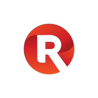 Litera r koło logo wektor
