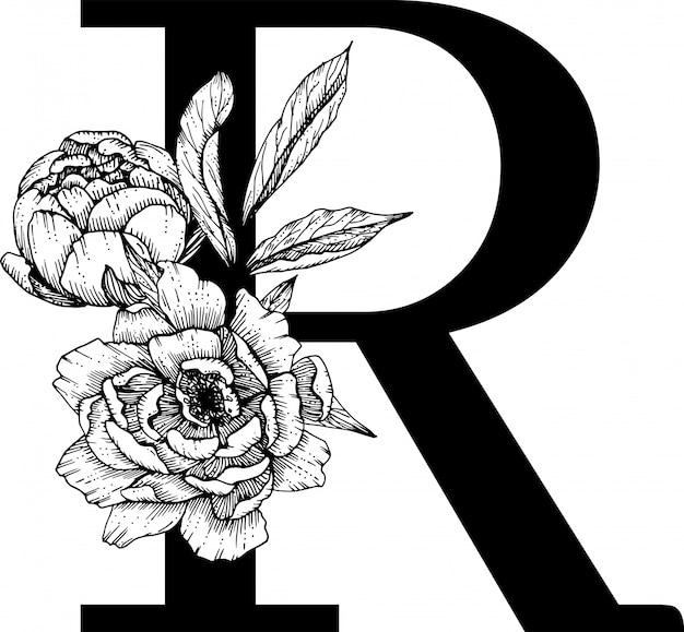 Litera r, kwiatowy alfabet