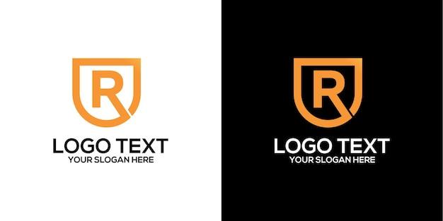 Litera R Logo Wektor Wektor Premium Premium Wektorów