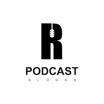 Litera r szablon projektu logo podcastu