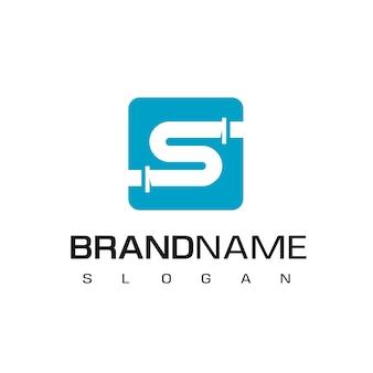 Litera s logo rury symbol firmy wodno-kanalizacyjnej i olejowej