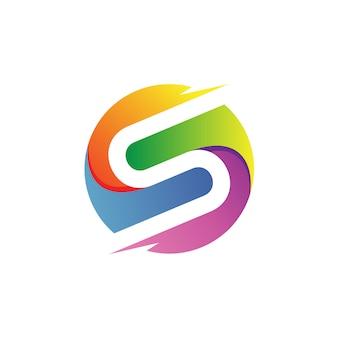 Litera s w okręgu logo wektor