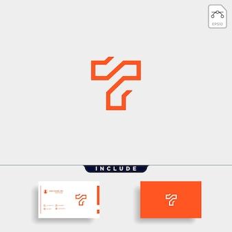 Litera t tt projekt logo prosty wektor elegancki