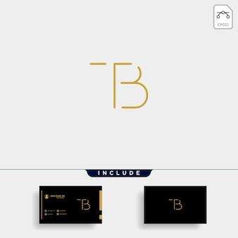 Litera tb bt tb projektowanie logo prosty wektor elegancki