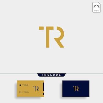 Litera tr rt tr projekt logo prosty wektor elegancki
