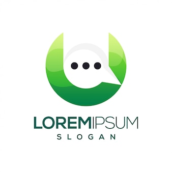 Litera u czat kolorowe logo gradientu