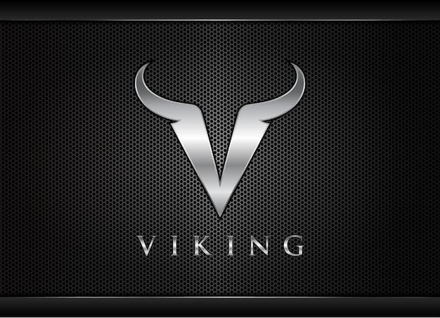Litera v viking logo litera v logo design