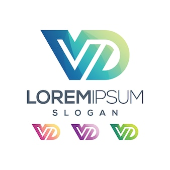 Litera vd logo kolor gradientu