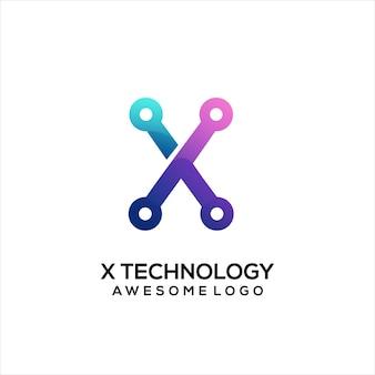 Litera x logo kolorowe gradientowe streszczenie