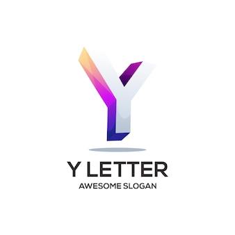 Litera y kolorowa ilustracja gradientu logo