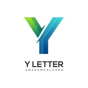 Litera y logo kolorowa ilustracja gradientowa