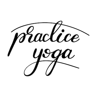 Literowanie ćwicz jogę. ilustracji wektorowych.