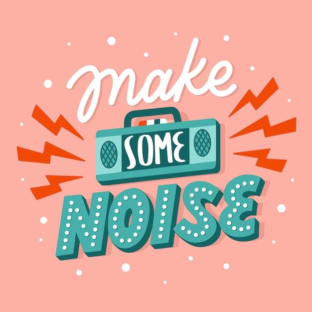 Literowanie typografia cytat plakat inspiracja motywacja zrób trochę hałasu