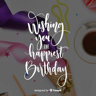 Literowanie urodzinowe tło
