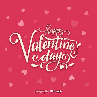 Literowanie valentine tła