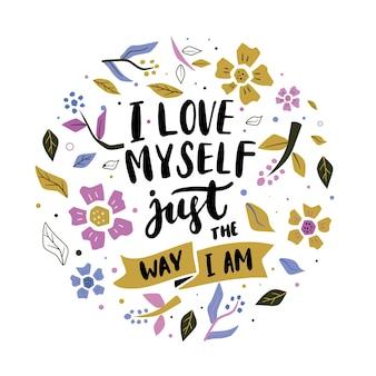Literowanie własnej miłości z kwiatami
