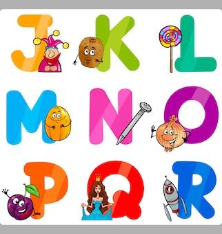 Litery alfabetu edukacji dla dzieci