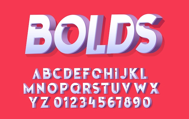"""Litery alfabetu i """"pogrubienia"""". wektor stylizowane nowoczesne czcionki i alfabetu"""