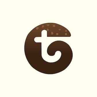 Litery alfabetu inicjały monogram tc logo design