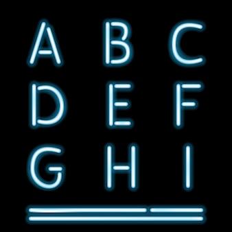 Litery alfabetu neon tube