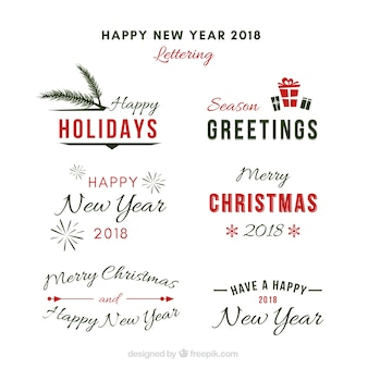 Litery na nowy rok i boże narodzenie
