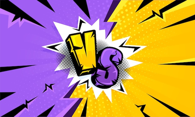 Litery vs na żółtym i fioletowym tle