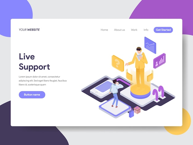 Live support illustration for web pages