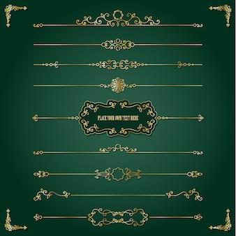 Lixury złoty zestaw ramek i przegród