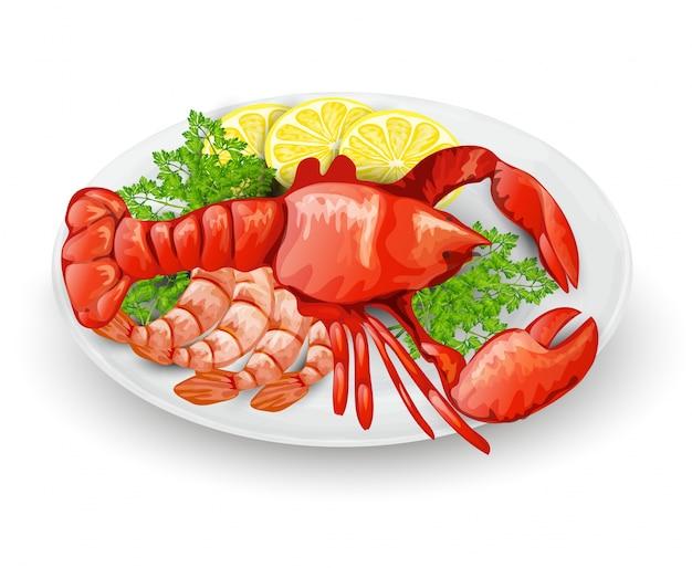 Lobster na talerzu
