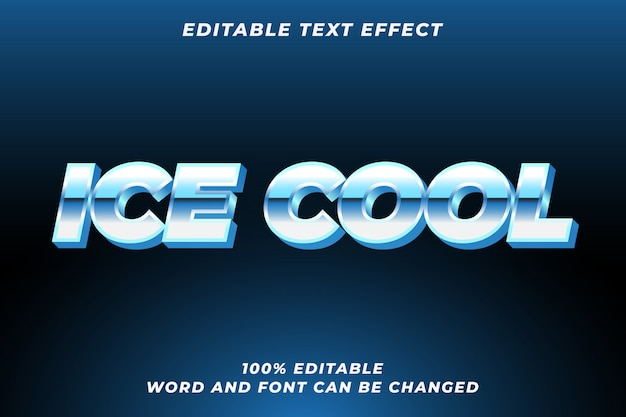 Lodowy efekt stylu tekstu premium